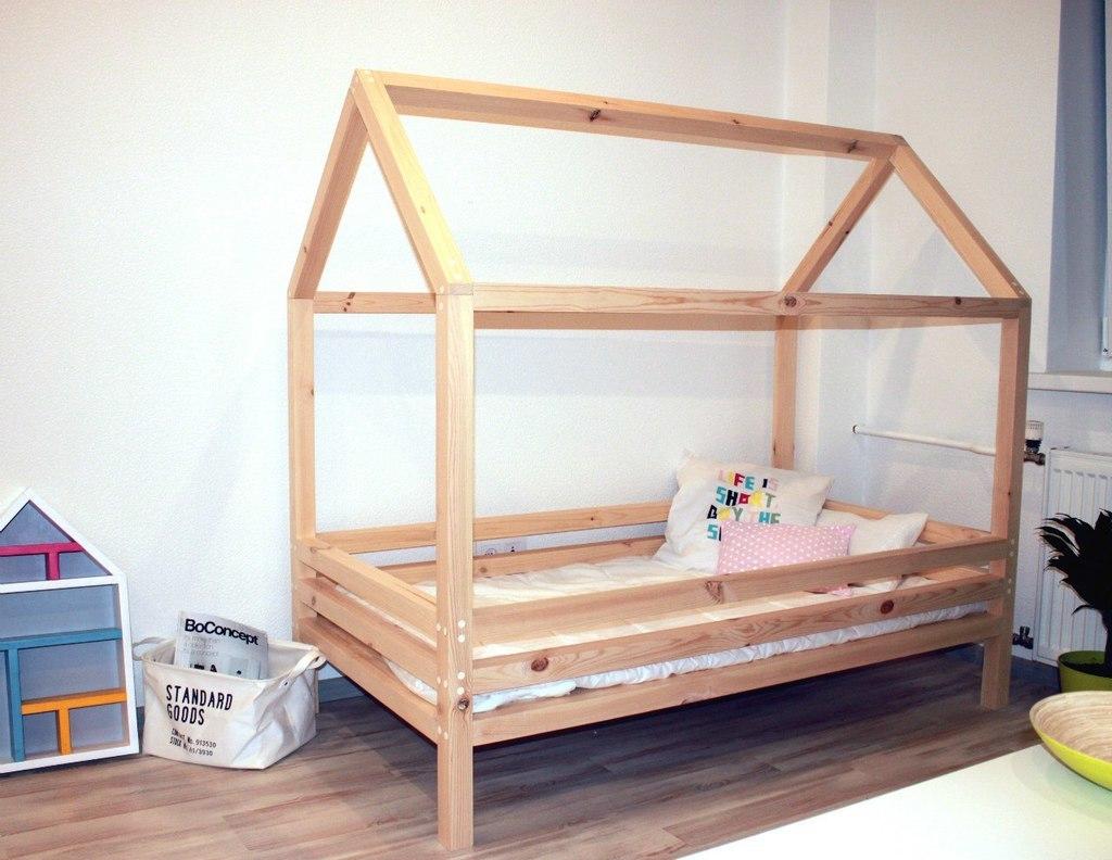 Сделать детскую кровать домик своими руками