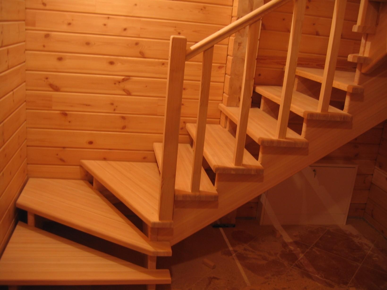 Деревянные лестницы для дачи своими руками на второй этаж