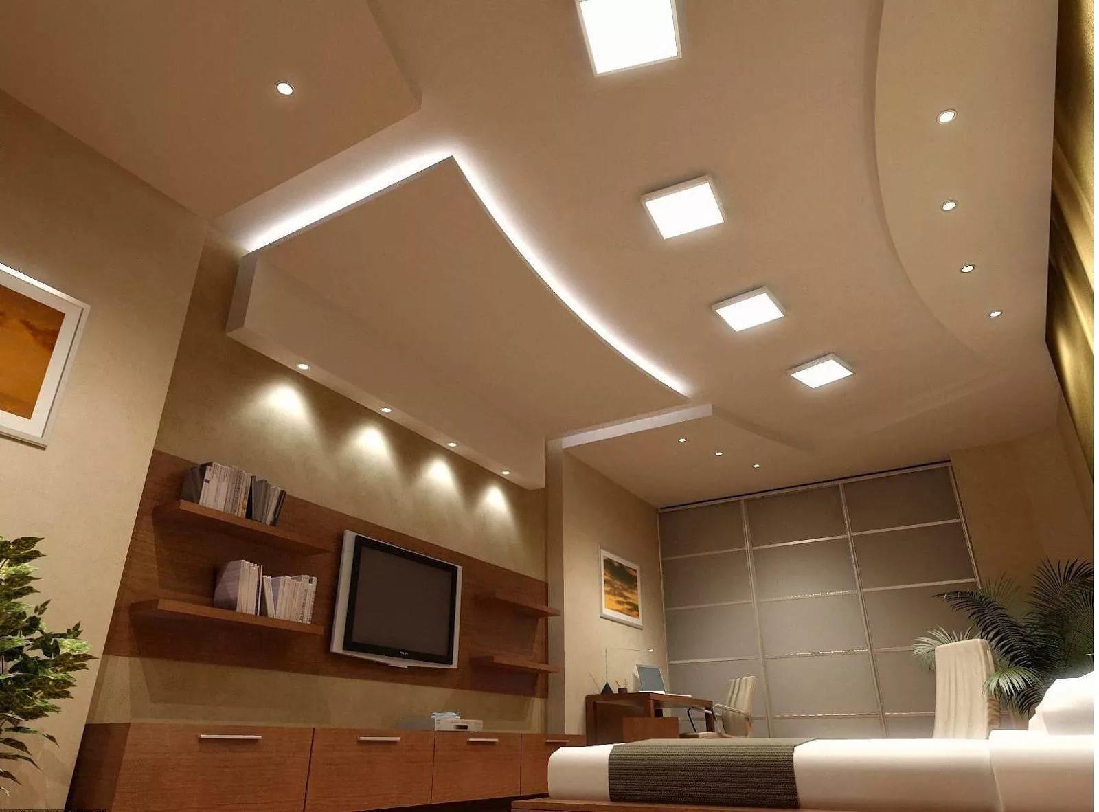 Фото дизайна фигурных потолков