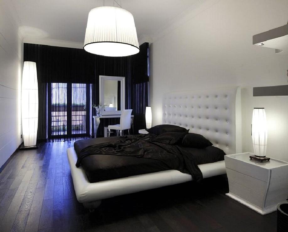 Дизайн комнаты белое черное
