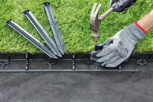 Пластиковый бордюр для круглых форм газона