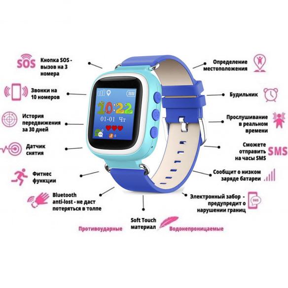 Детские Умные Часы с GPS Трекером Smart Baby Watch Q70 Характеристики