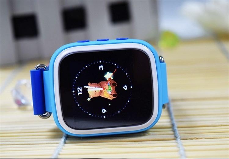 Детские Умные Часы с GPS Трекером Smart Baby Watch Q70 синие сбоку