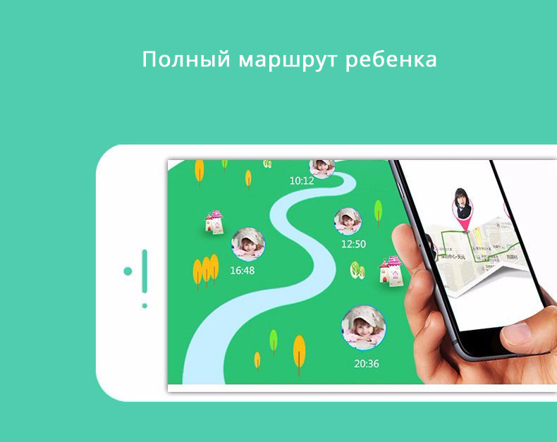 Детские Умные Часы с GPS Трекером Smart Baby Watch Q75 Q200 GW1000 маршрут
