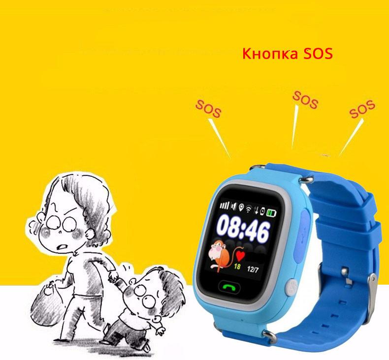 Детские Умные Часы с GPS Трекером Smart Baby Watch Q75 Q200 GW1000 кнопка SOS