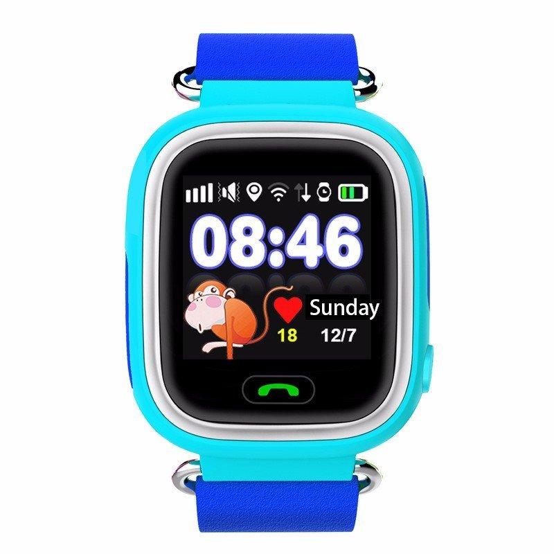 Детские Умные Часы с GPS Трекером Smart Baby Watch Q80 Голубые