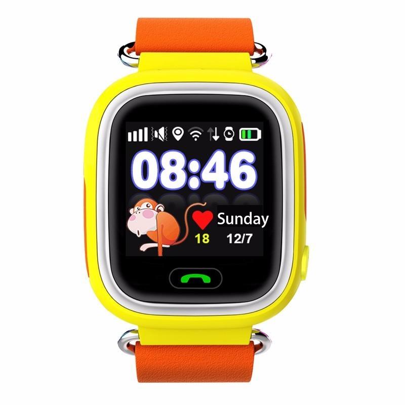 Детские Умные Часы с GPS Трекером Smart Baby Watch Q80 желтые