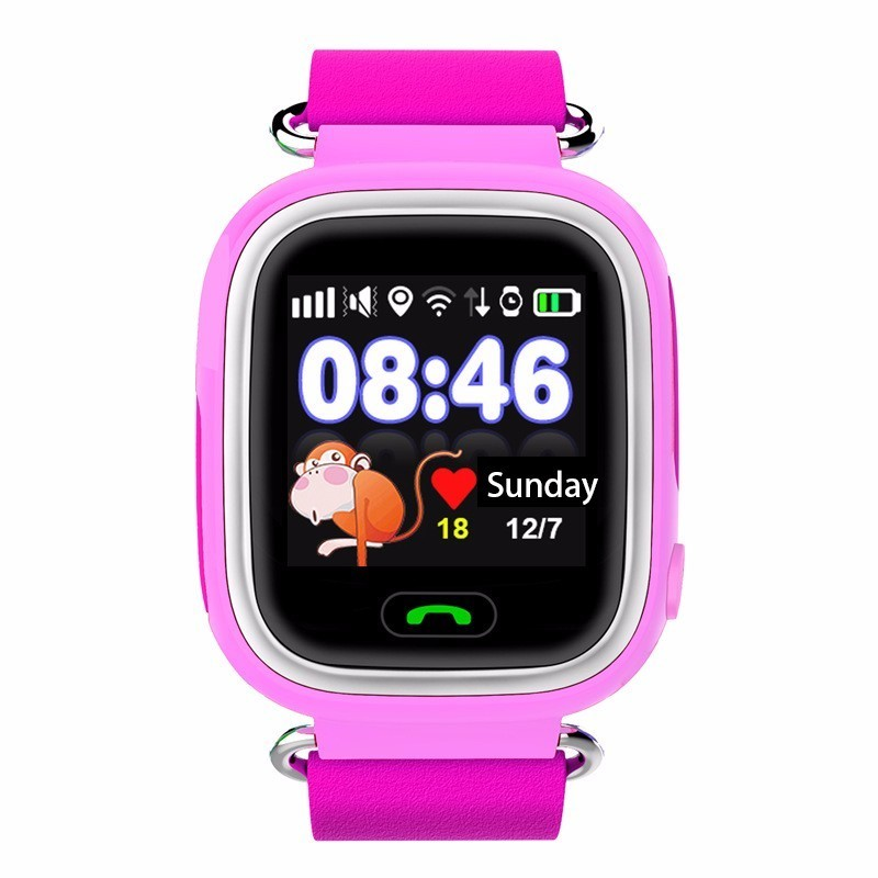 Детские Умные Часы с GPS Трекером Smart Baby Watch Q80 розовые