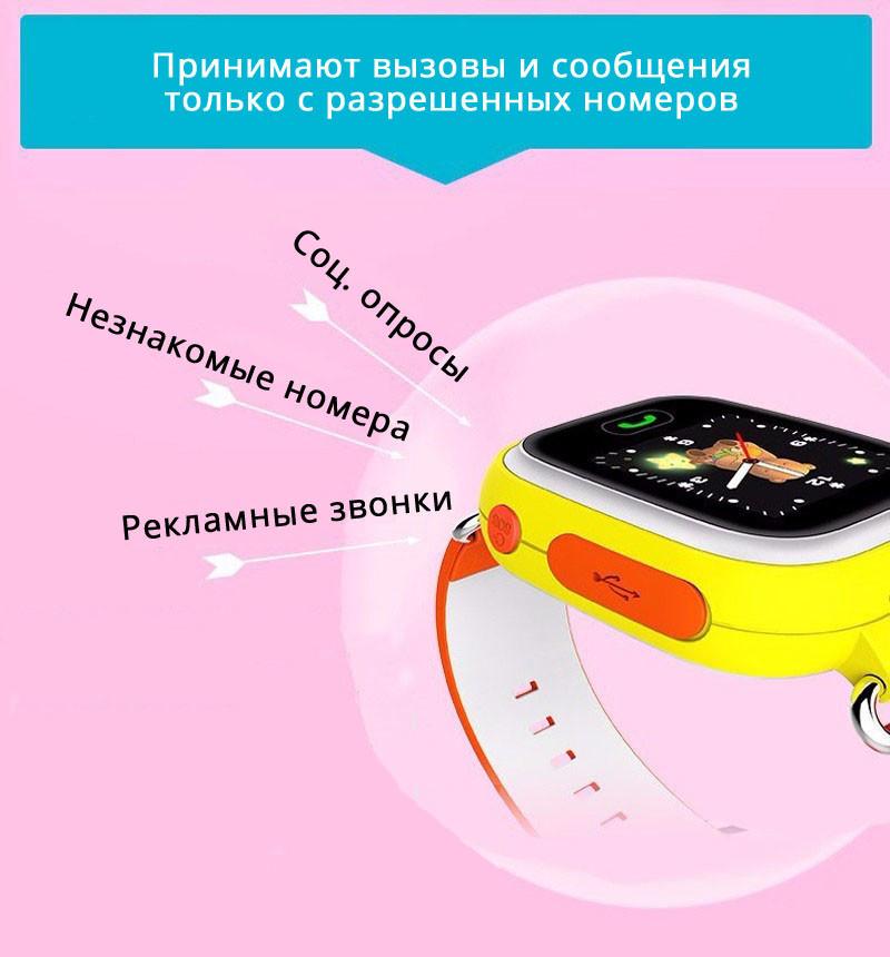 Детские Умные Часы с GPS Трекером Smart Baby Watch Q70 Контакты Телефонная Книга