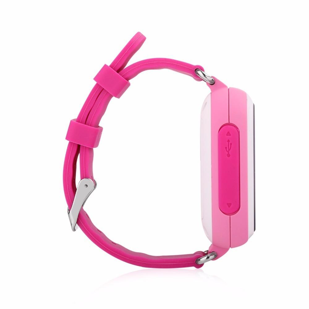 Детские Умные Часы с GPS Трекером Smart Baby Watch Q80 розовые сбоку