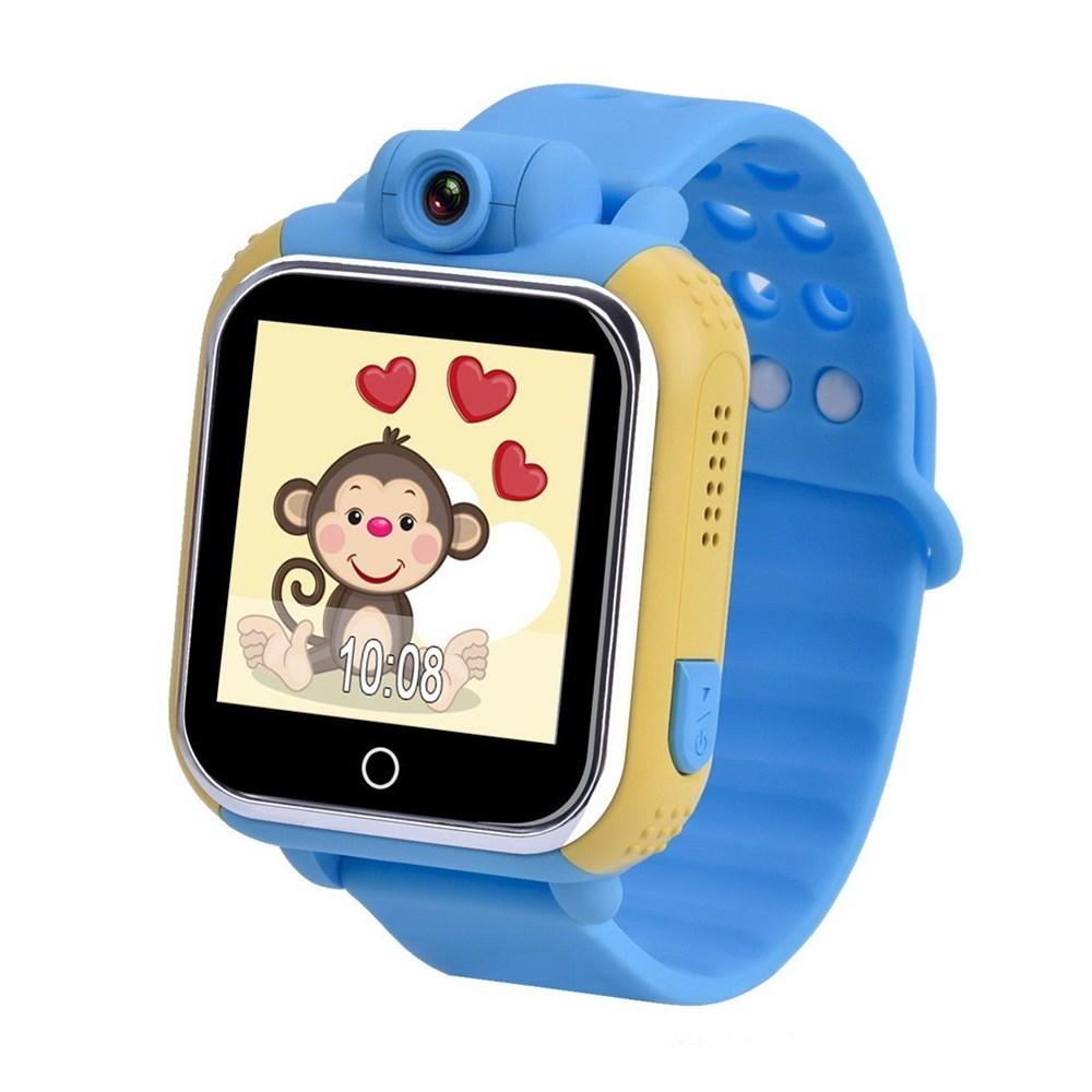 Детские Умные Часы с GPS Трекером Smart Baby Watch Q75 Q200 GW1000 Голубые