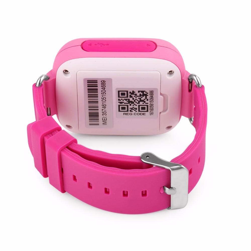 Детские Умные Часы с GPS Трекером Smart Baby Watch Q80 розовые сзади