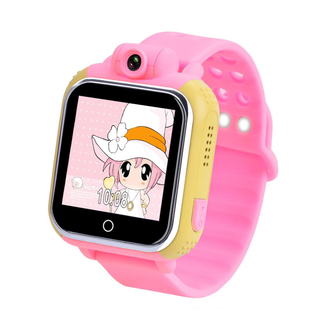 Детские Умные Часы с GPS Трекером Smart Baby Watch Q75 Q200 GW1000 розовые