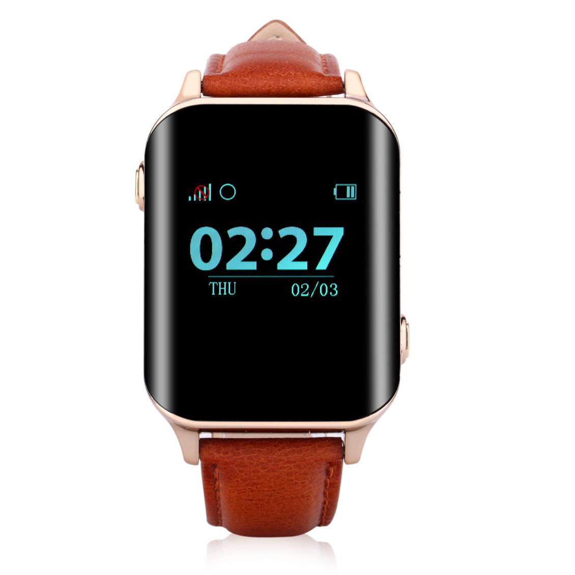 Умные Часы с GPS Трекером Smart Watch D100 (A16 EW200) коричневые